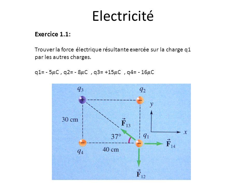 Electricité Exercice 1.1: