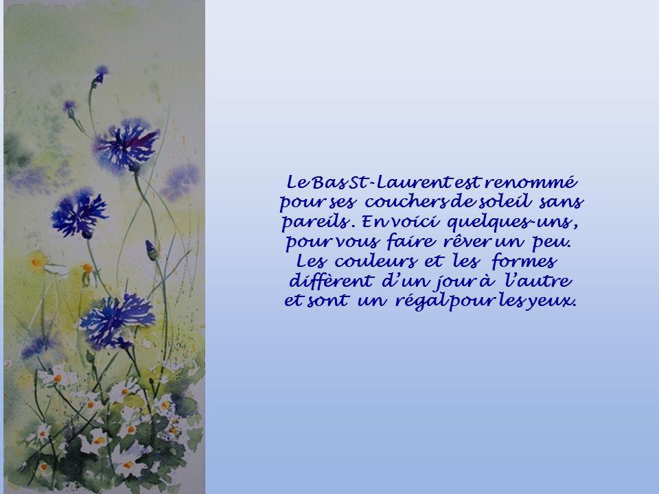 Le Bas St-Laurent est renommé pour ses couchers de soleil sans