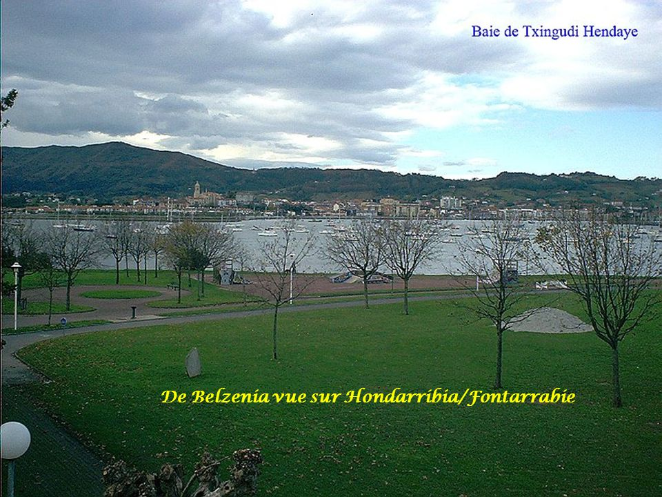 De Belzenia vue sur Hondarribia/Fontarrabie