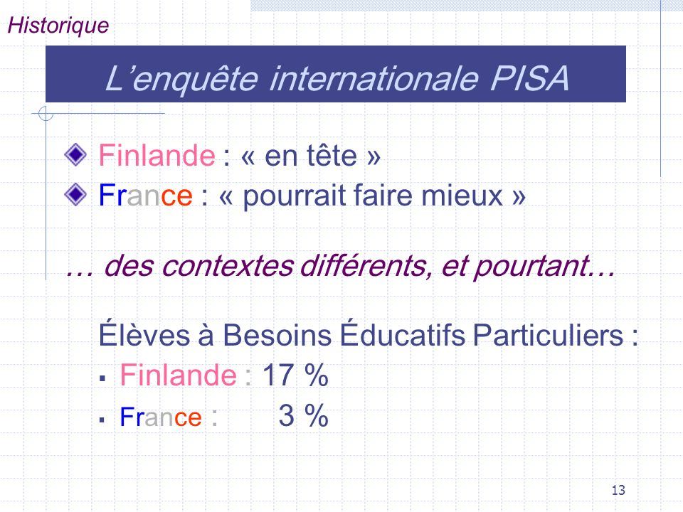 L'enquête internationale PISA
