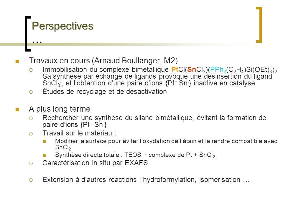 Perspectives … Travaux en cours (Arnaud Boullanger, M2)