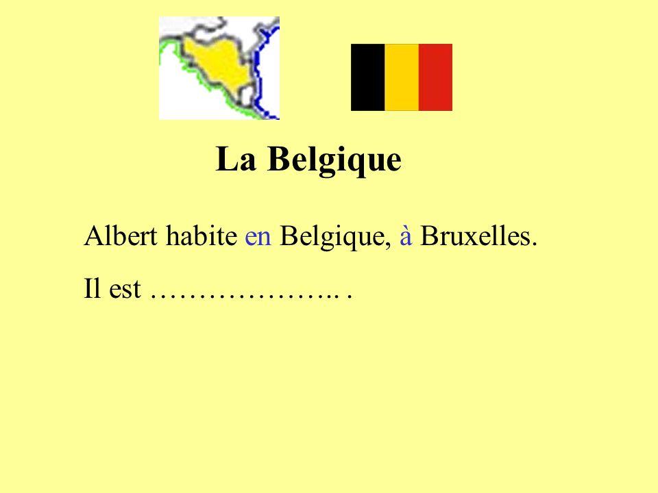 La Belgique Albert habite en Belgique, à Bruxelles. Il est ……………….. .