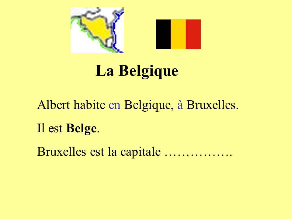 La Belgique Albert habite en Belgique, à Bruxelles. Il est Belge.