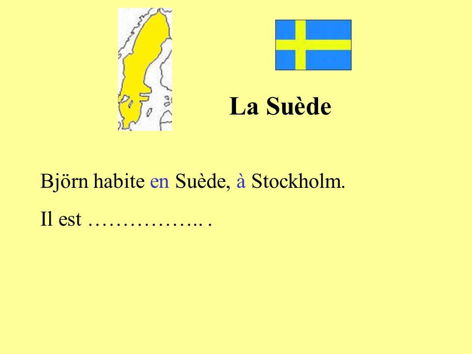 La Suède Björn habite en Suède, à Stockholm. Il est …………….. .