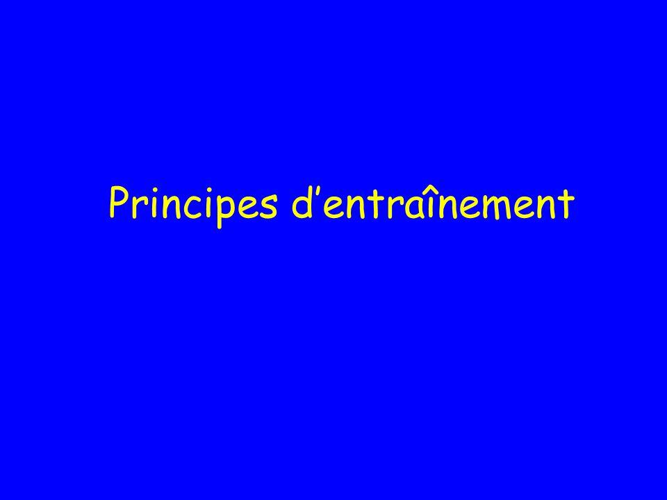 Principes d'entraînement
