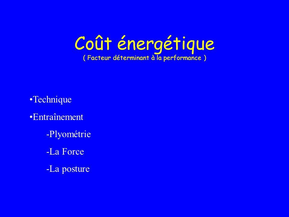 Coût énergétique ( Facteur déterminant à la performance )