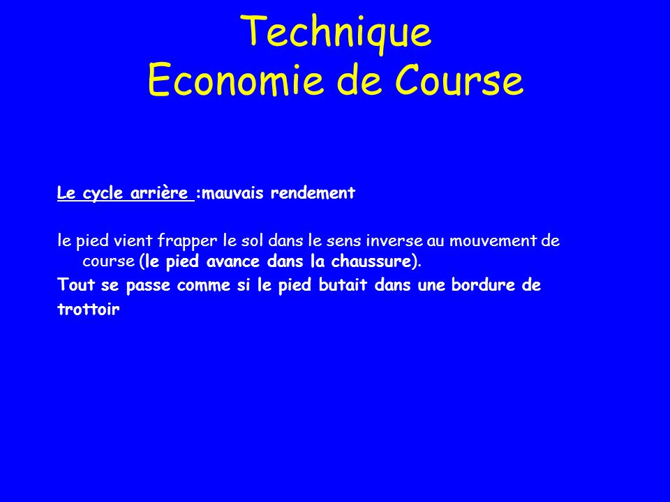 Technique Economie de Course