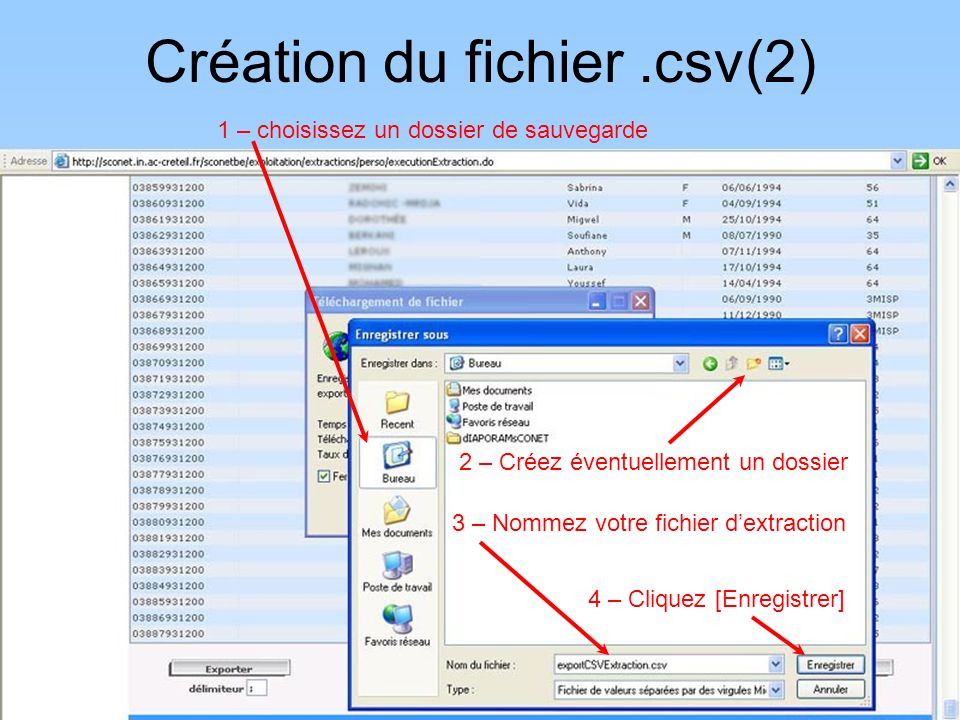 Création du fichier .csv(2)