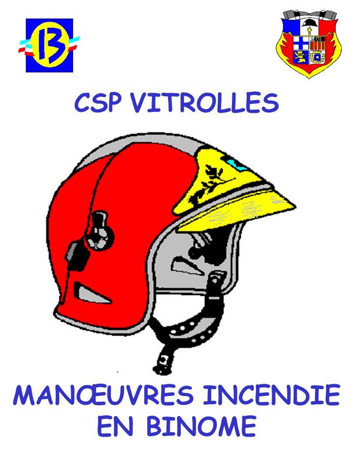 CSP VITROLLES MANŒUVRES INCENDIE EN BINOME