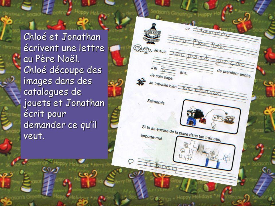 Chloé et Jonathan écrivent une lettre au Père Noël