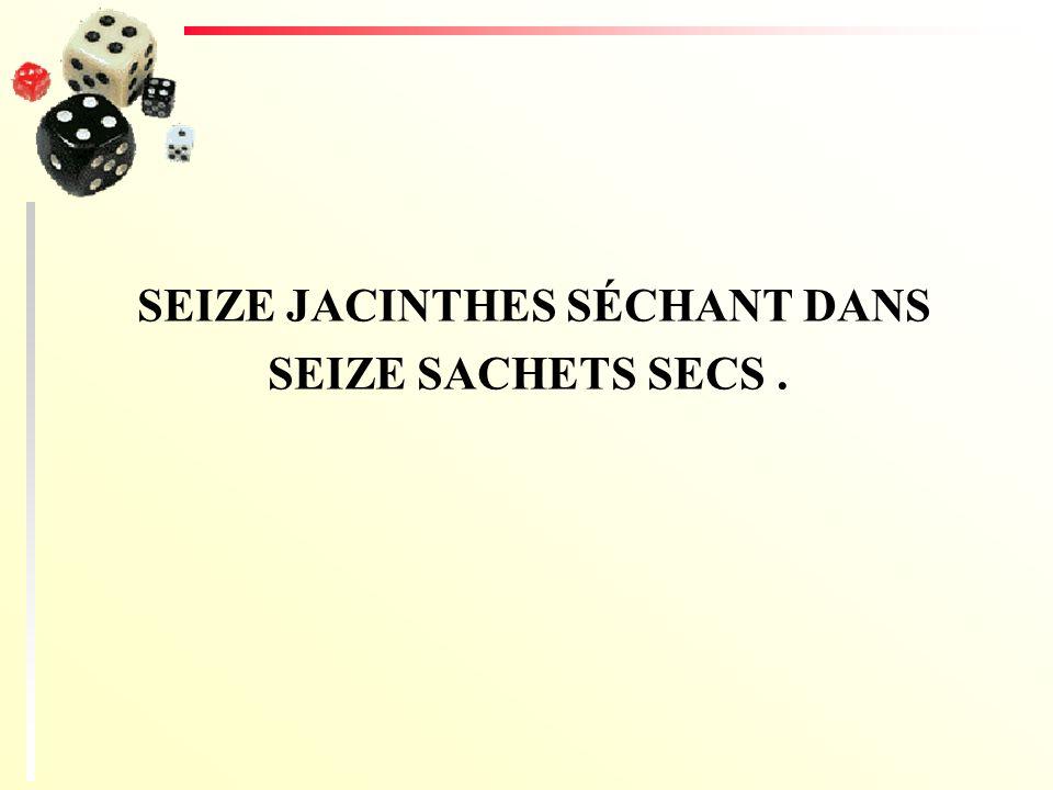 SEIZE JACINTHES SÉCHANT DANS