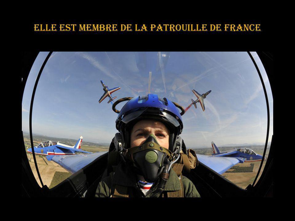 Elle est membre de la patrouille de France