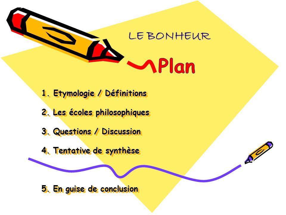 LE BONHEUR Plan.