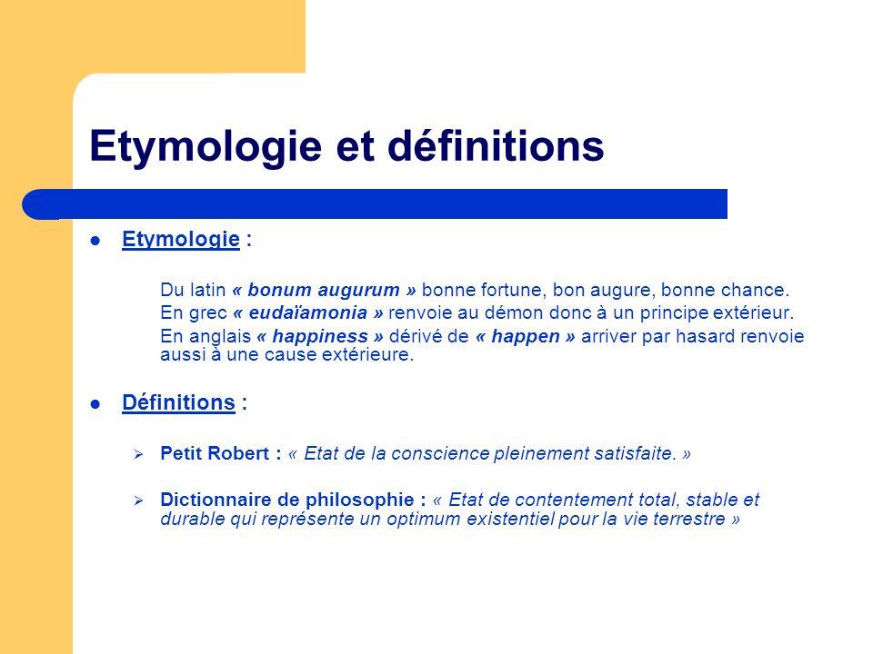 Etymologie et définitions