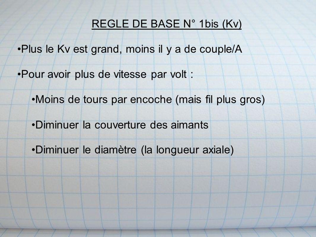 REGLE DE BASE N° 1bis (Kv)