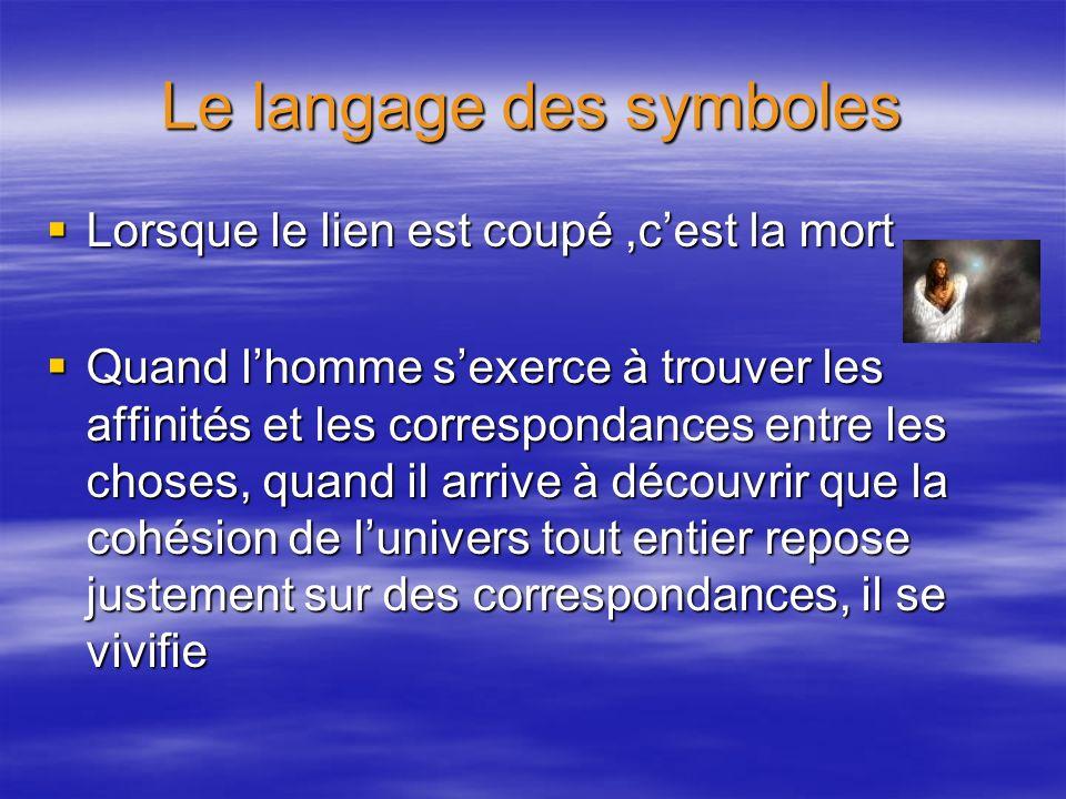 Le langage des symboles