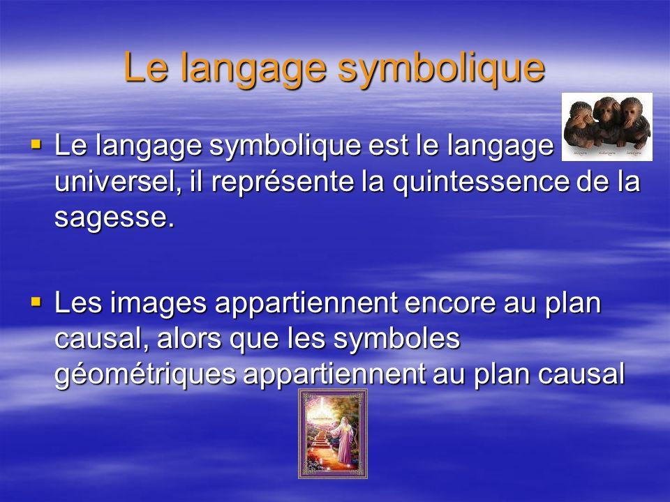 Le langage symbolique Le langage symbolique est le langage universel, il représente la quintessence de la sagesse.