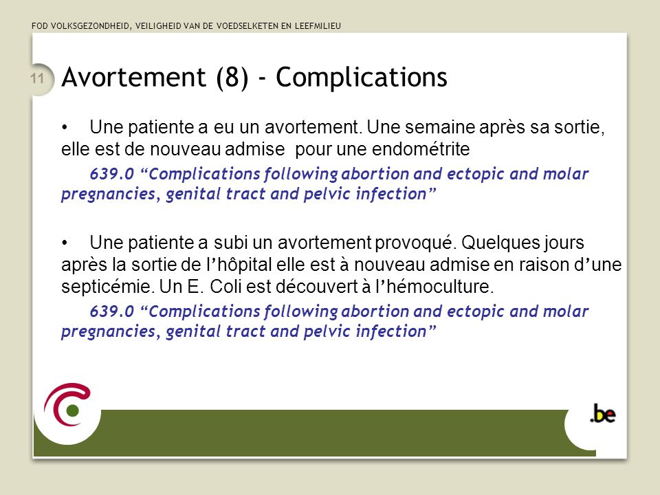 Avortement (8) - Complications