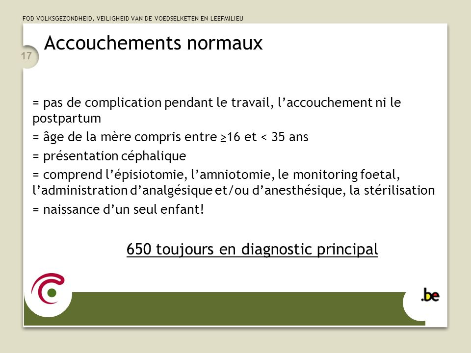 Accouchements normaux
