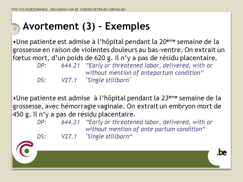 Avortement (3) – Exemples