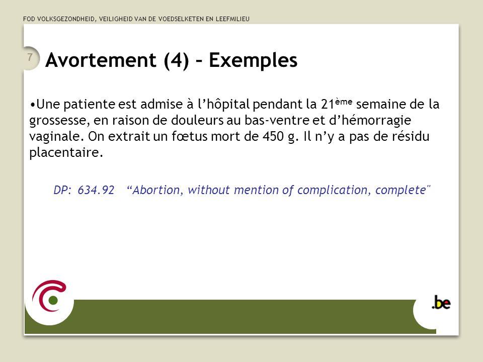 Avortement (4) – Exemples