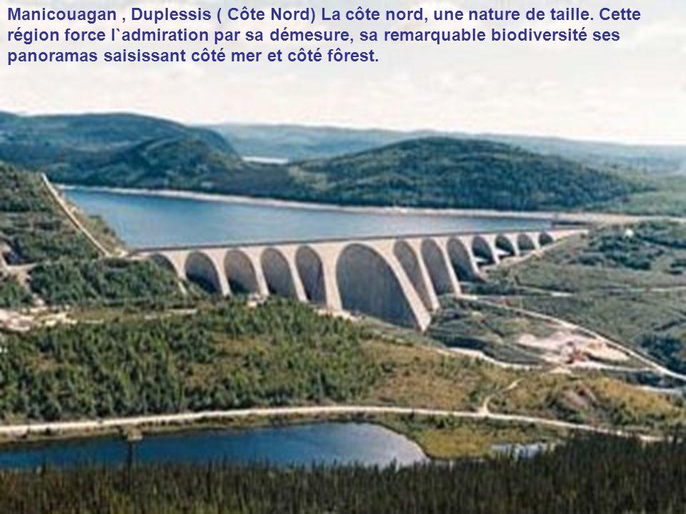 Manicouagan , Duplessis ( Côte Nord) La côte nord, une nature de taille.
