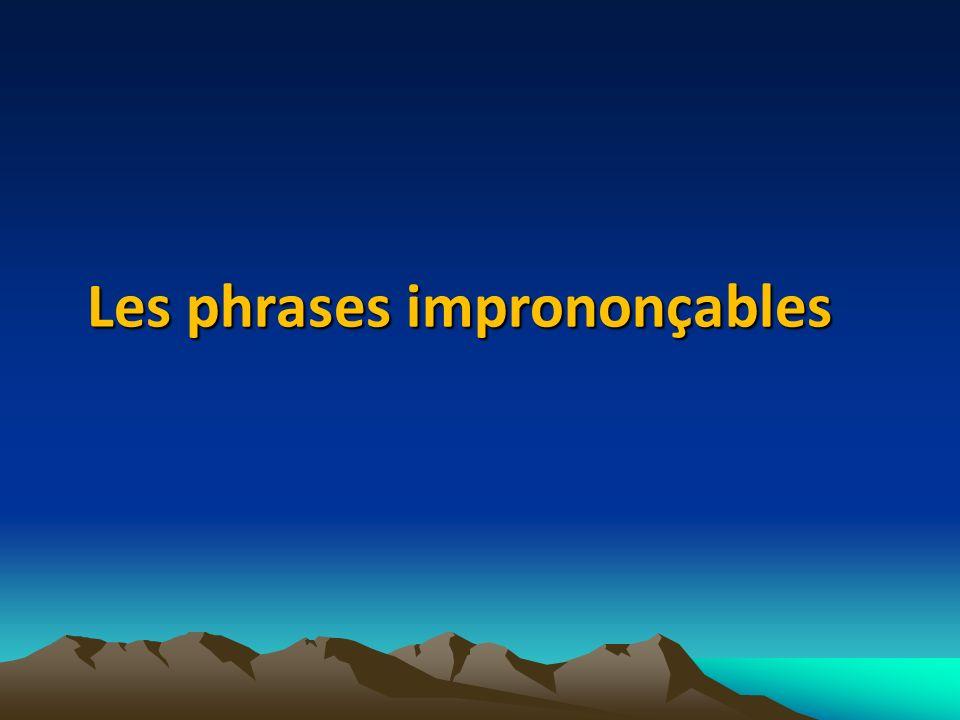 Les phrases imprononçables