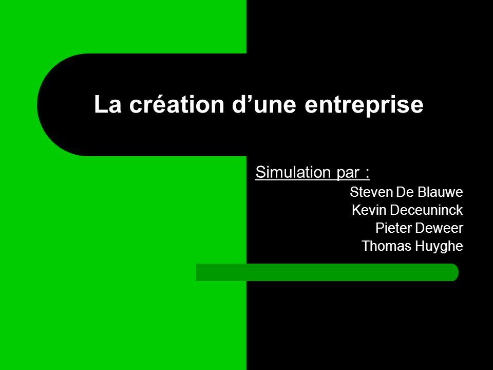 La création d'une entreprise