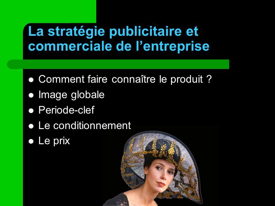La stratégie publicitaire et commerciale de l'entreprise
