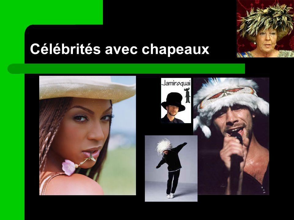 Célébrités avec chapeaux
