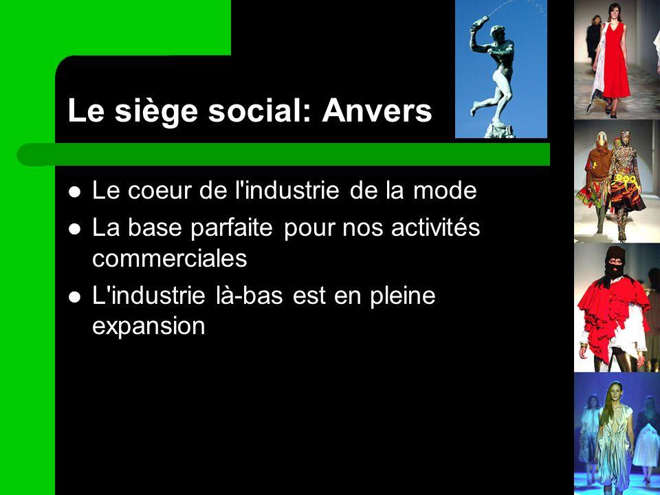 Le siège social: Anvers