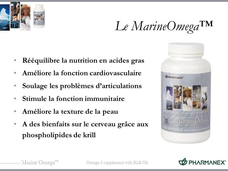 Le MarineOmega™ Rééquilibre la nutrition en acides gras
