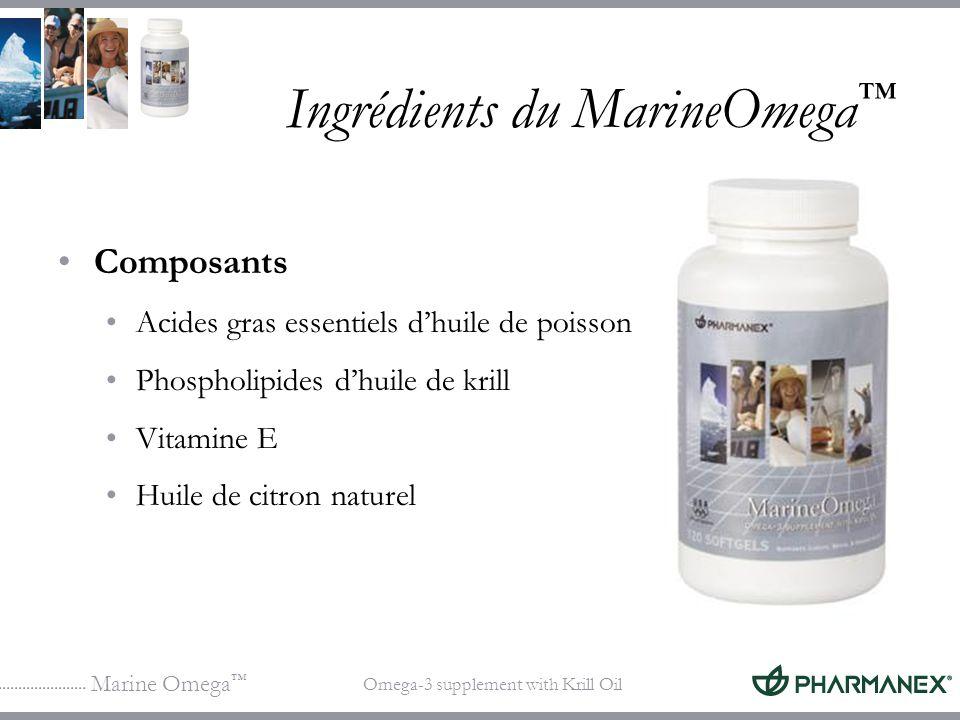 Ingrédients du MarineOmega™