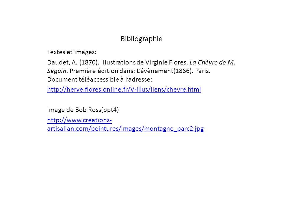 Bibliographie Textes et images:
