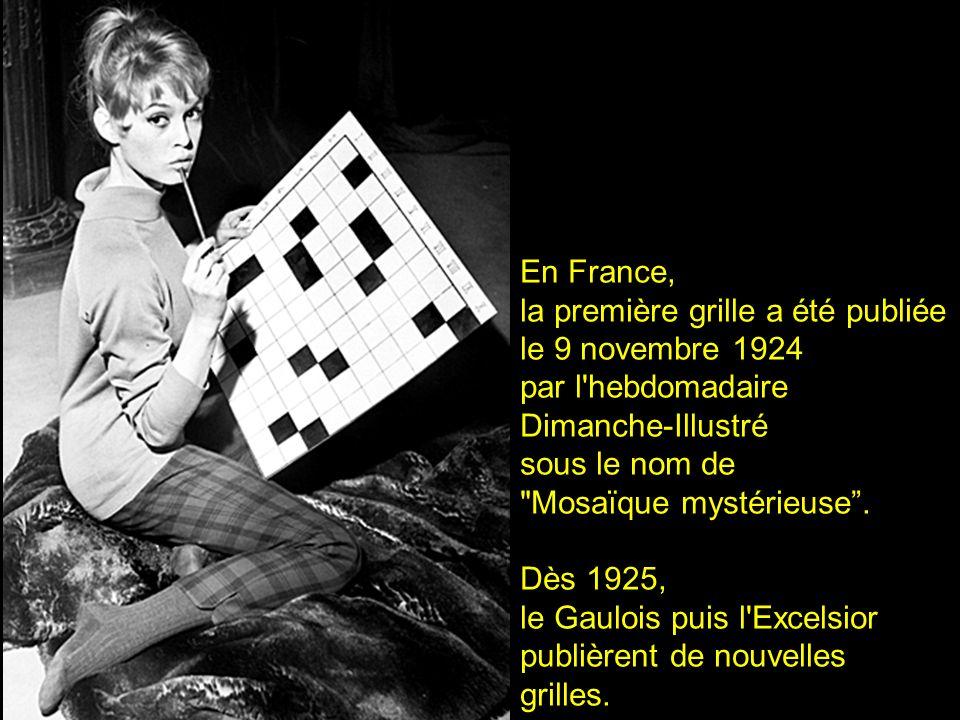 la première grille a été publiée le 9 novembre 1924