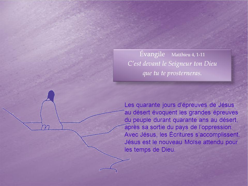 Les quarante jours d'épreuves de Jésus