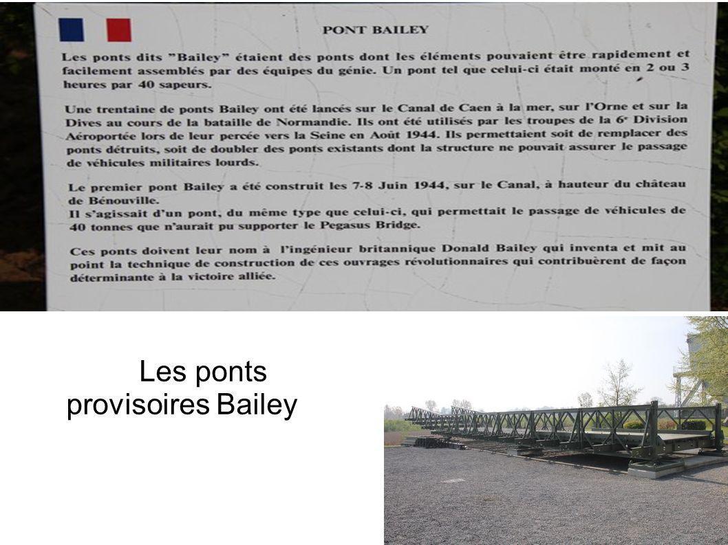 Les ponts provisoires Bailey
