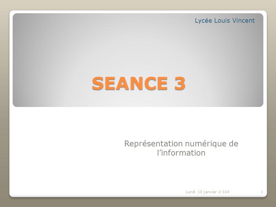 Représentation numérique de l'information
