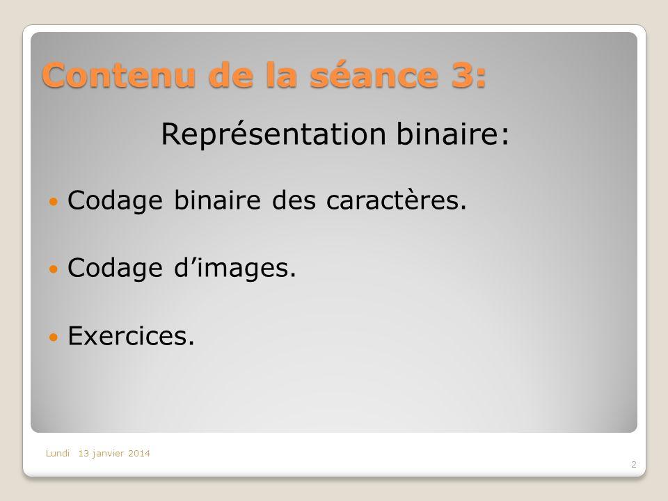 Représentation binaire: