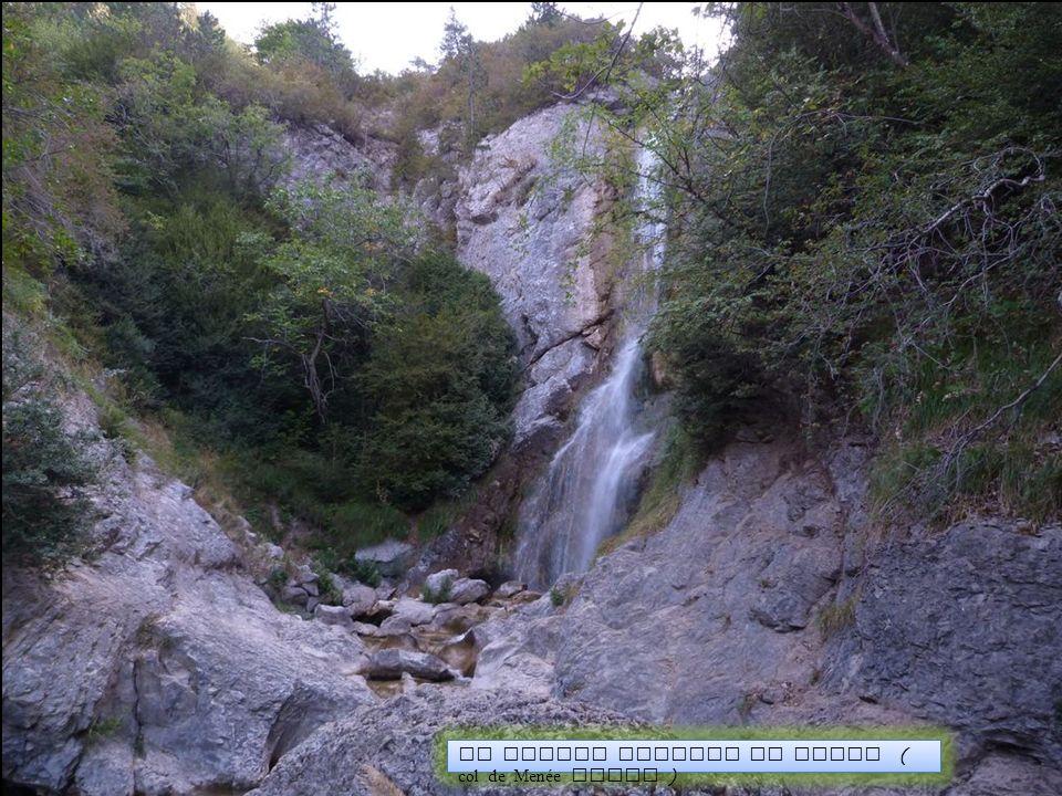 La grande cascade du Sapet ( col de Menée Diois )
