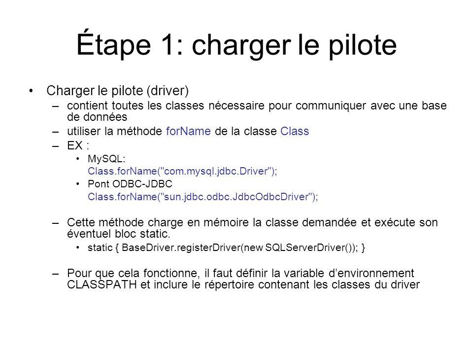 Étape 1: charger le pilote