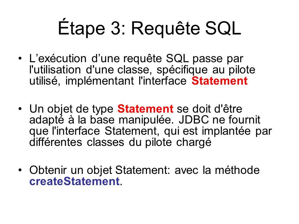 Étape 3: Requête SQL