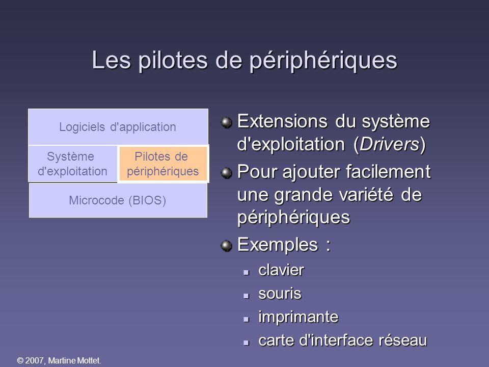 Les pilotes de périphériques