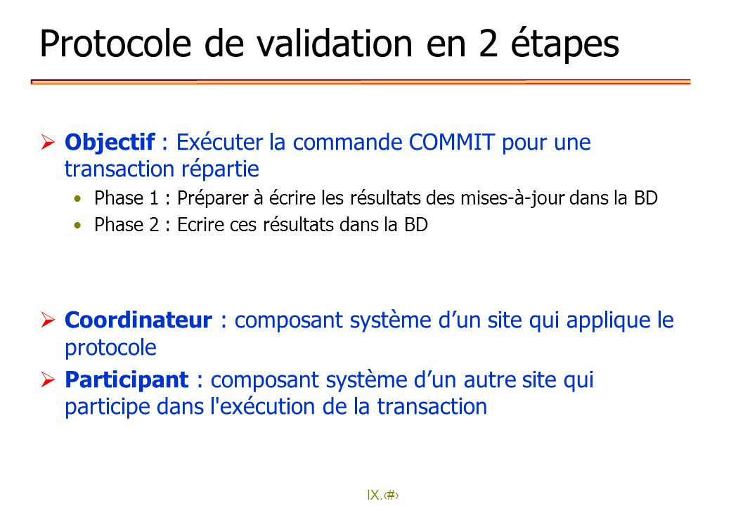 Protocole de validation en 2 étapes