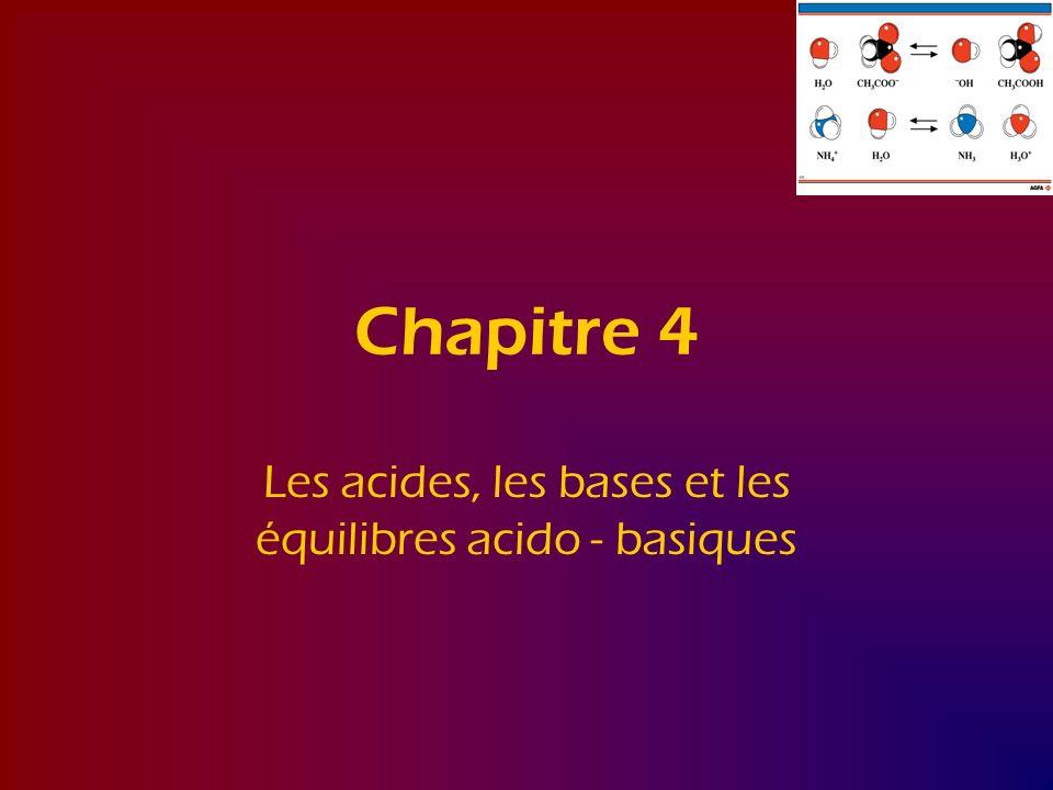 Les acides, les bases et les équilibres acido - basiques