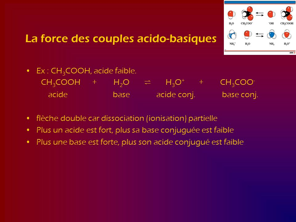 La force des couples acido-basiques