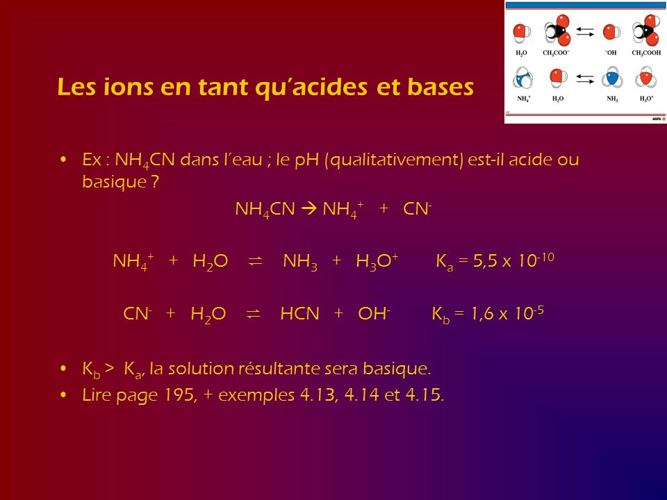 Les ions en tant qu'acides et bases