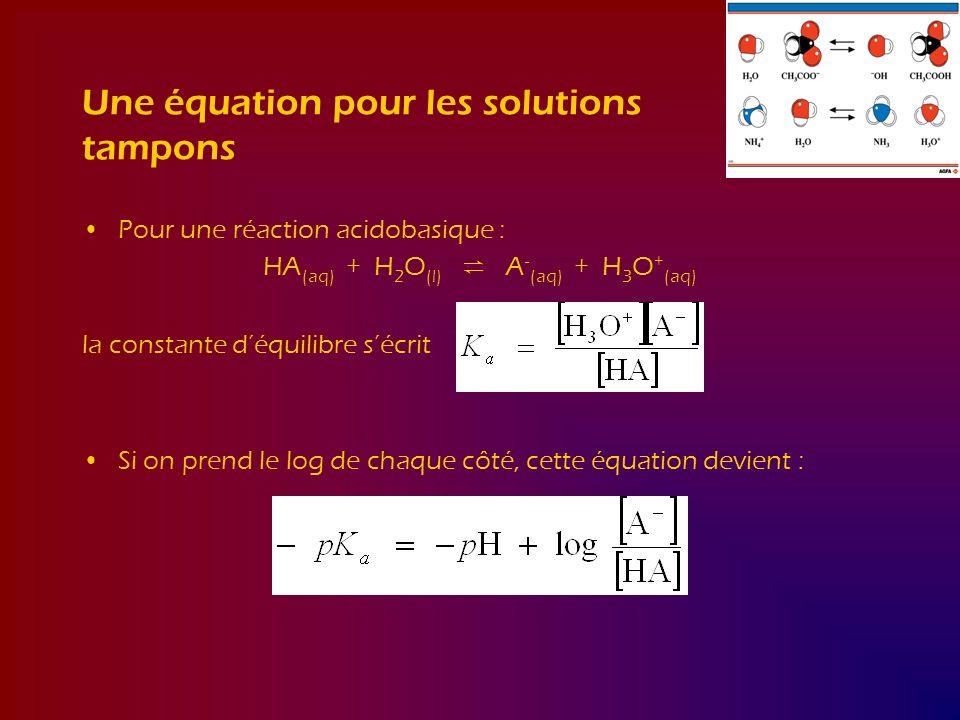 Une équation pour les solutions tampons