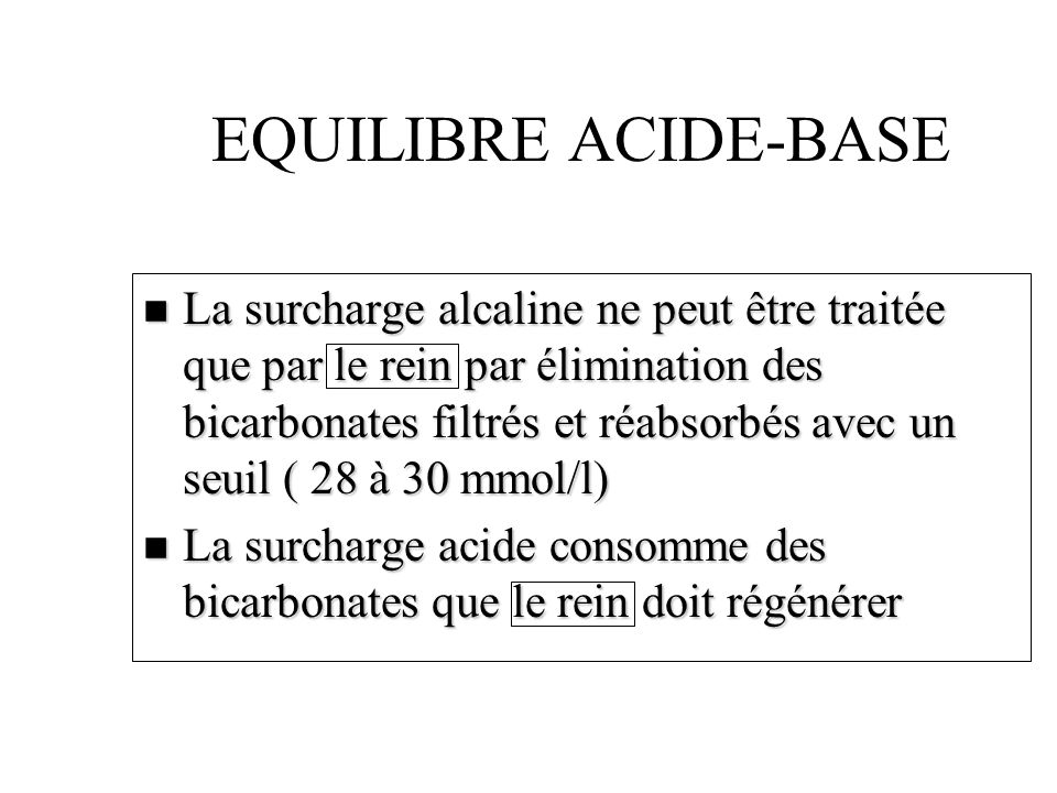 EQUILIBRE ACIDE-BASE