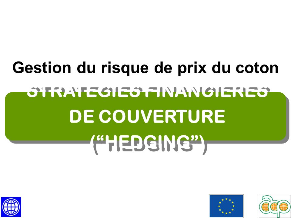 STRATEGIES FINANCIERES DE COUVERTURE ( HEDGING )